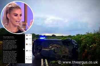 Katie Price's family issue statement after Partridge Green crash