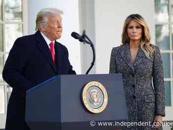 Melania Trump took quiet revenge on her husband by being escorted by handsome military aides, new book claims