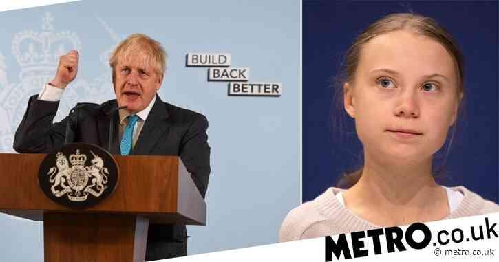 Greta Thunberg calls Tories' 'build back better' slogan 'blah, blah, blah'