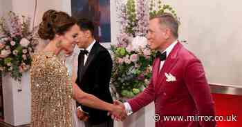 Daniel Craig tells Kate Middleton she looks 'jolly lovely' at James Bond premiere