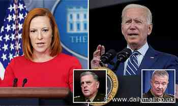 Psaki DECLINES to say whether Biden ignored Pentagon advice to keep troops in Afghanistan