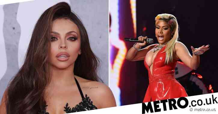 Nicki Minaj raps with a British accent as and Jesy Nelson shows off grills as they confirm collab on solo single Boyz