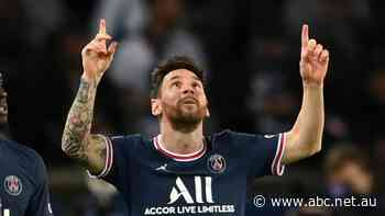 Messi scores first goal for PSG in win over Manchester City