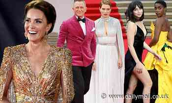 No Time To Die: Daniel Craig looks dapper as he joinsLashana Lynch and Kate Middleton at premiere