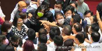 Taiwan lawmakers brawl over handling of coronavirus pandemic - MarketWatch