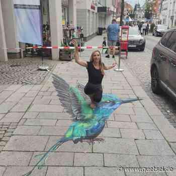 Weitere Kunstaktionen auf der Rathausstraße in Rietberg, Gütsel Online - Gütsel