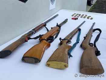 Armas, municiones vivas y aprehendidos en La Pintada - El Siglo Panamá
