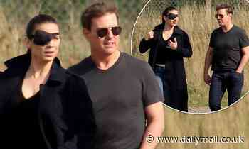Tom Cruise and Hayley Atwell prepare to film a scene for Mission: Impossible 7 at Duxford Airfield - Daily Mail
