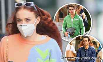 Sophie Turner and Joe Jonas take baby Willa to lunch with uncle Nick in New York - Daily Mail