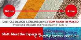Partikeldesign & Engineering von Nano bis Makro auf der Chemspec DIGITAL 2021 am 29. und 30. September 2021 - Process