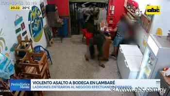 Violento asalto a bodega en Lambaré - ABC Color