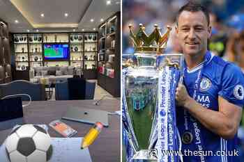 Inside Chelsea legend John Terry's incredible trophy room with wall-to-wall cabinet to display silverware... - The Sun