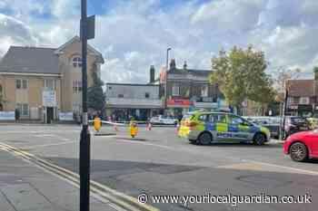 Parchmore Road Thornton Heath police: Van hits pedestrian