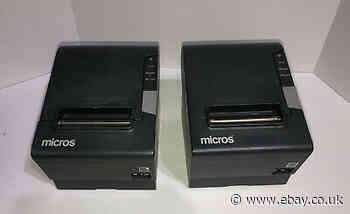 2 - EPSON MICROS - POS Thermal Receipt Printer - TM-T88V M244A - RSS-232  Tested
