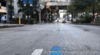 ¿Qué significa la línea azul pintada en las calles para los corredores del maratón de Chicago? - Telemundo Chicago