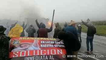 MiMorelia - Comuneros de Arantepacua queman vehículo en la Paracho-Nahuatzen - MiMorelia.com