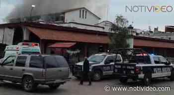 Se incendia el mercado municipal de Jiquilpan - Notivideo