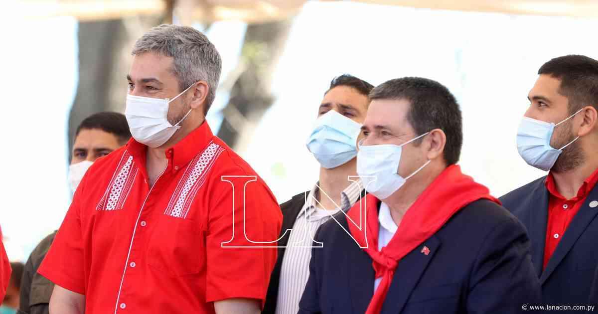 Cartes y Abdo sellaron en Ybycuí la unidad colorada con el abrazo republicano - La Nación