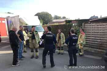 Gaslek na werken in tuin vlak naast brandweerkazerne