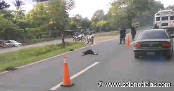 Motociclista pierde la vida en accidente registrado en Ciudad Arce, La Libertad - Solo Noticias