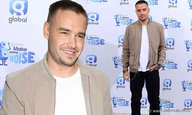 Liam Payne puts on a debonair display as he arrives for Global's Make Some Noise charity day - Daily Mail