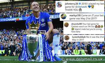 Chelsea legend John Terry incorrectly posts 'on this day' final game throwback - to the wrong match - Daily Mail