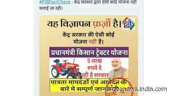 Fact Check: Rs 5 lakh subsidy news under the PM Kisan Tractor Yojana is FAKE