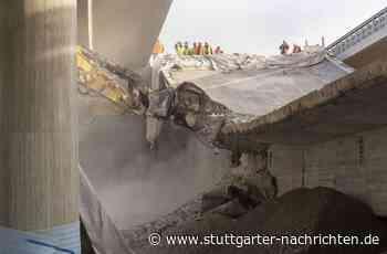 Gumpenbachbrücke in Kornwestheim - Spektakuläre Sprengung der B-27-Brücke - Stuttgarter Nachrichten