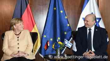 Abschiedsbesuch in Israel: Kanzlerin Merkel trifft Ministerpräsident Bennett