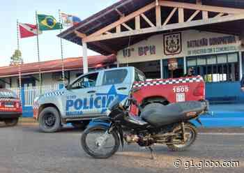 Motocicleta furtada é recuperada pela PM em Monte Alegre - G1