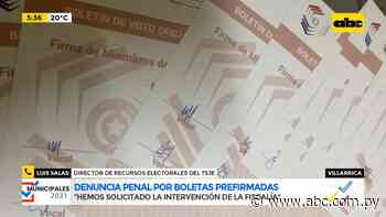 """Boletas prefirmadas en Villarrica """"ya fueron cambiadas en su totalidad"""" - ABC Color"""