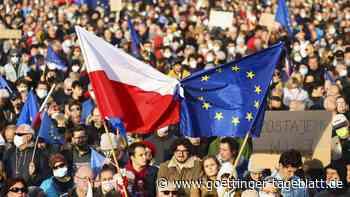 """""""Wir bleiben"""": Tausende Polen protestieren für Verbleib in der EU"""