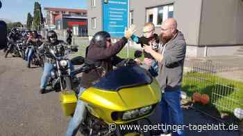 Motorrad-Korso zum zweiten Geburtstag: Überraschung für den kleinen Matheo