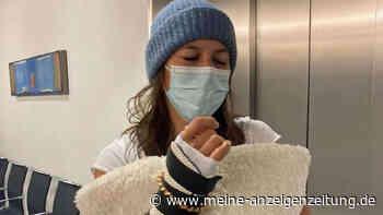 Olympiasiegerin bricht sich beide Hände: Dabei stand die Wintersportlerin nicht einmal auf ihren Skiern
