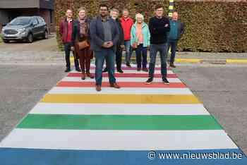Gemeente wandelt zes regenboogzebrapaden in op International... (Zelzate) - Het Nieuwsblad