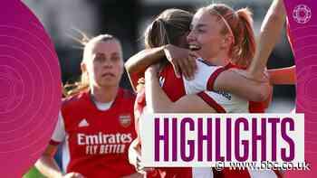 WSL highlights: Arsenal beat Everton 3-0 to maintain 100% start