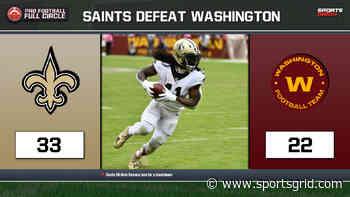 NFL Recap: New Orleans Saints (33) Vs. Washington Football Team (22) | Pro Football Full Circle - SportsGrid