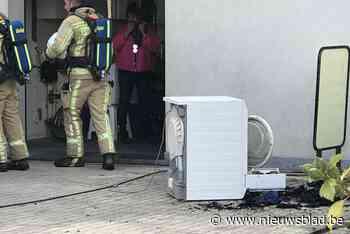 Droogkast brandt helemaal uit in garage