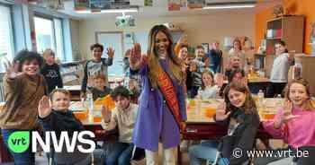 Miss België Kedist Deltour deelt brooddozen uit in Ieper tegen kinderarmoede - VRT NWS