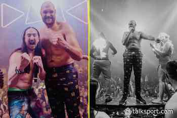 Tyson Fury 'raged hard' until 3am with DJ Steve Aoki, sipping £800 vodka and singing 'Sweet Caroline' after... - talkSPORT.com