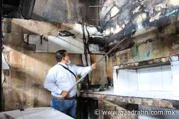Restauran zonas del mercado Zaragoza de Jiquilpan tras incendio - Quadratín - Quadratín Michoacán