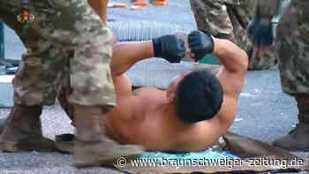 Filmreife Kampfkunst-Vorstellung für Kim Jong Un