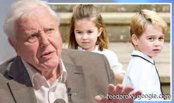 Prince George and Princess Charlotte were 'very upset' over David Attenborough visit