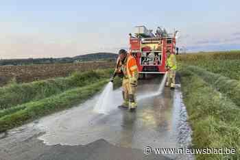 """Ondanks start moddercampagne meteen weer ongevallen en opruimwerk voor brandweer: """"Vuil wegdek moet zo snel mogelijk worden schoongemaakt"""""""