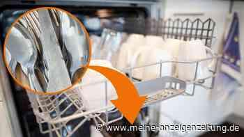 Spülmaschinen-Trick: Wer Alufolie zum Besteck legt, wird seinen Augen nicht trauen