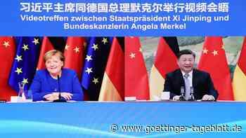 """""""Abschiedsgespräch"""": Merkel und Xi berieten über G-20-Treffen und Klimaschutz"""