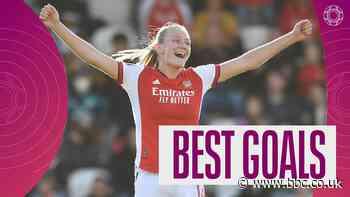 Women's Super League: Frida Maanum's 25-yard stunner for Arsenal features in best goals