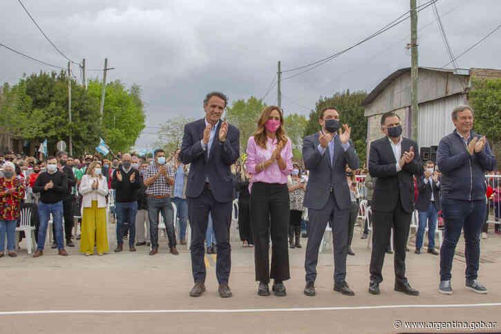Florencio Varela: Katopodis inauguró la Av. Juana Azurduy totalmente pavimentada - Argentina.gob.ar Presidencia de la Nación