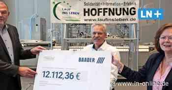12000 Euro gegen den Krebs: Lübecker Firma Baader spendet an Krebsgesellschaft
