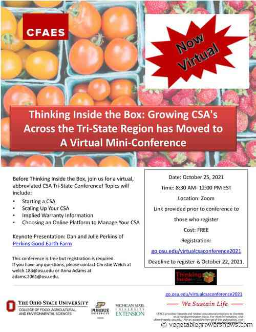 Michigan, Indiana and Ohio community supported ag farmers webinar target